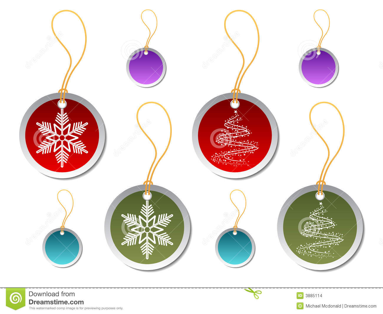 round christmas gift tags stock vector illustration of tree 3885114