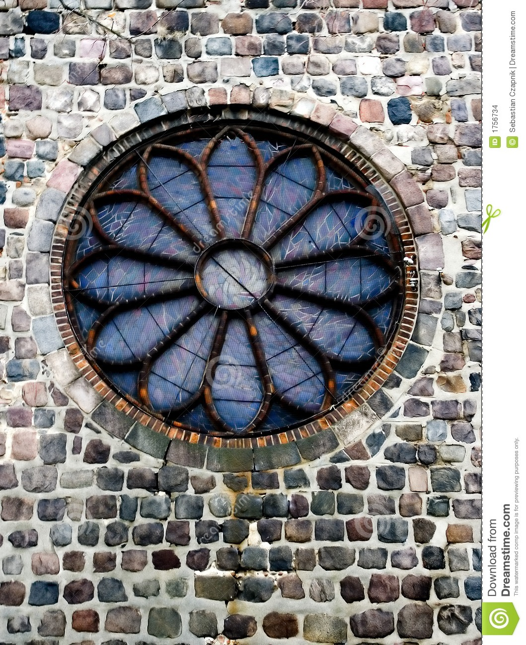 Round Church Window Stock Photo Image Of Detail Unique
