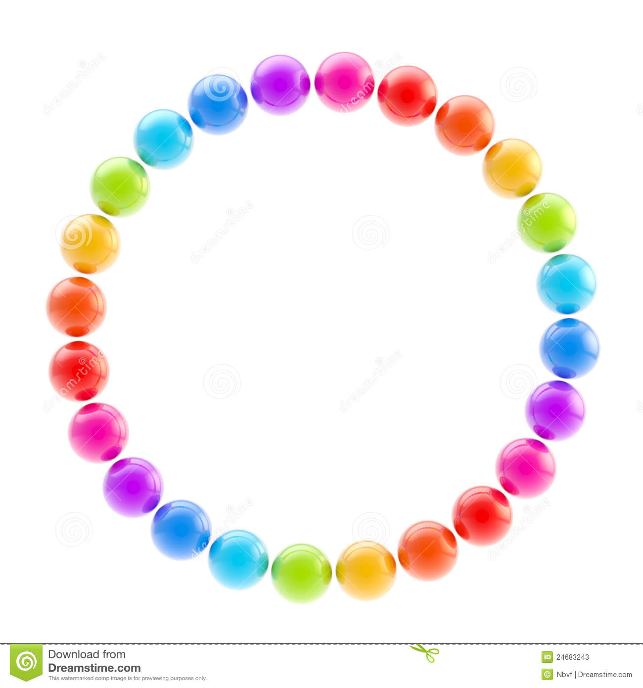 Round Circle Colorful Frame Isolated Stock Image Image