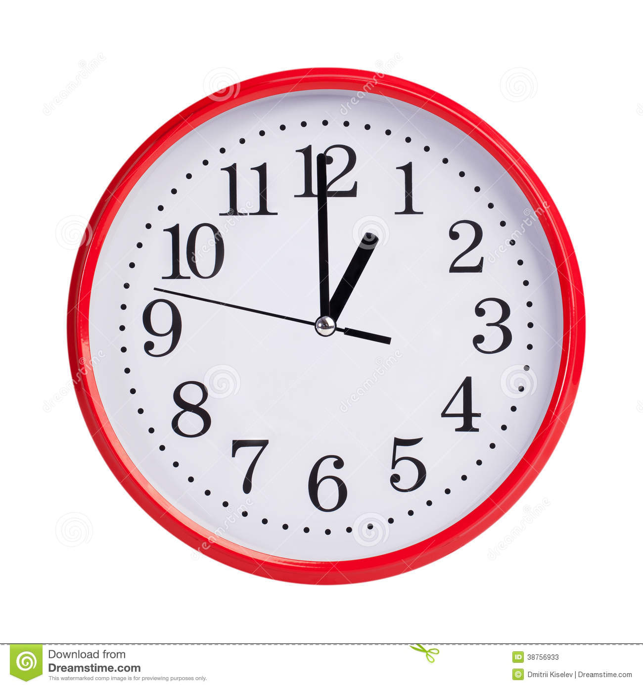 One O'clock Stock Photo - Image: 41490244