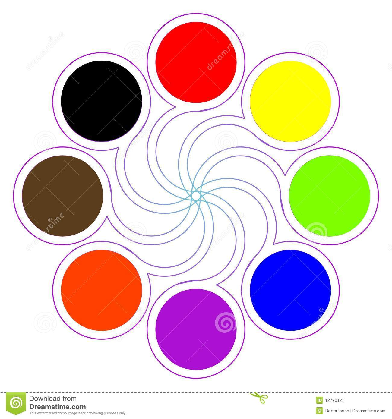 Basic Color Wheel Stock Photos Images U Pictures With