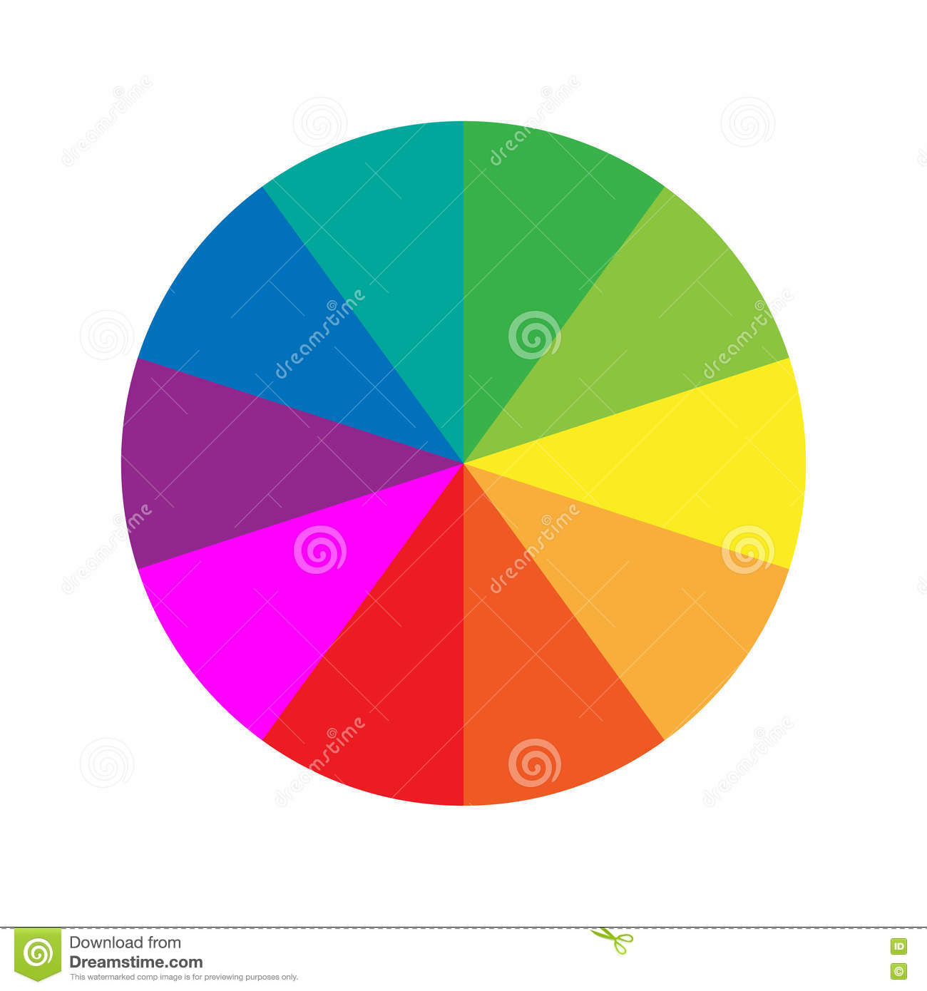 Round Color Wheel Guide Template Stock Vector - Illustration of ...