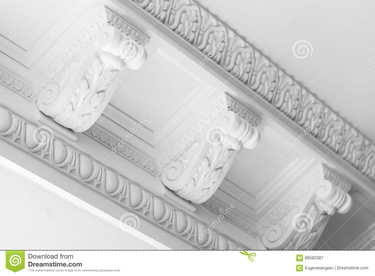 Round Decorative Clay Stucco Relief Moldings Stock Image