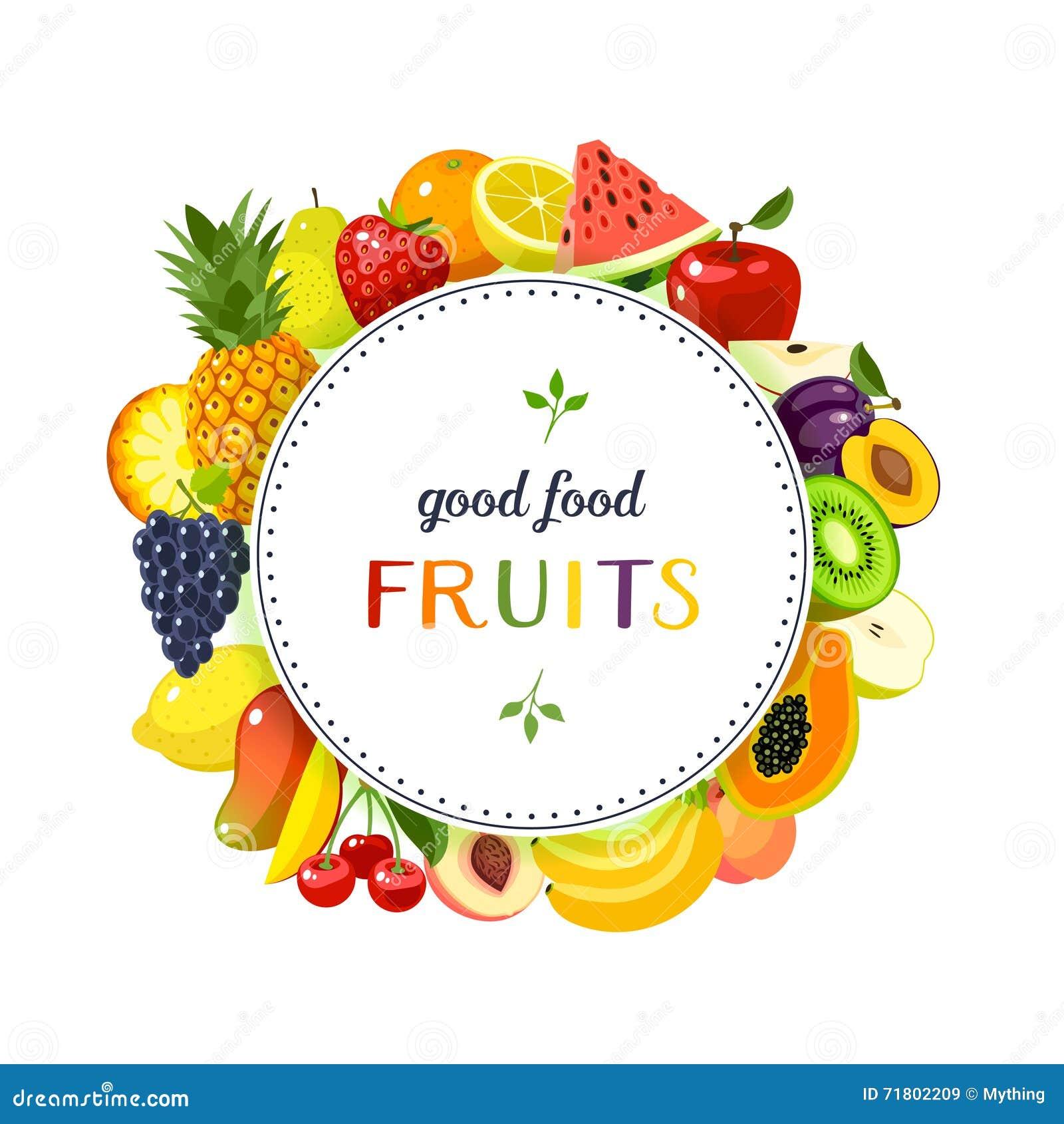 Round etykietka z owoc