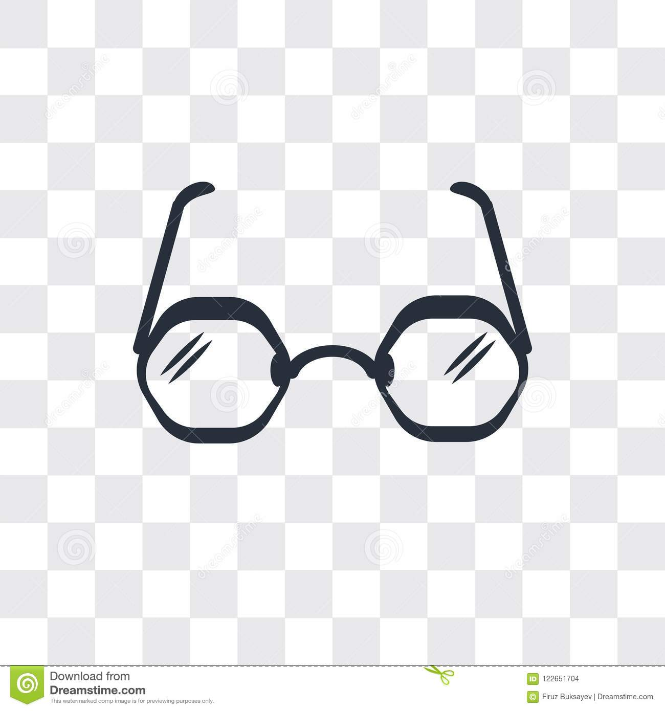cd521e531a53 Round Eyeglasses Vector Icon Isolated On Transparent Background ...