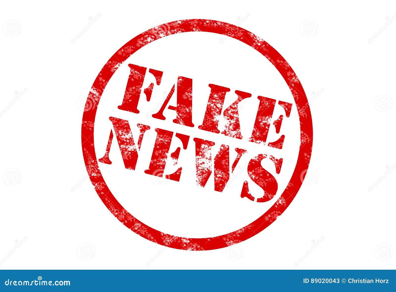 Round Fake News Stamp Stock Illustration Illustration Of Defraud 89020043