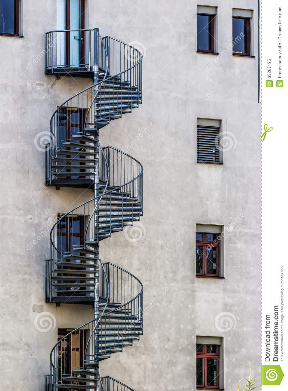 Royalty Free Stock Photo. Download Round Fire Escape Stairs ...