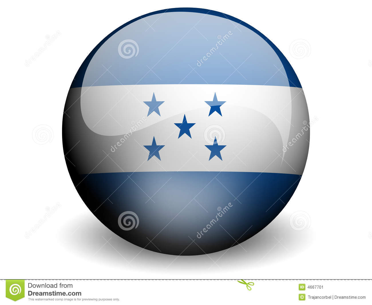 Round Flag of Honduras