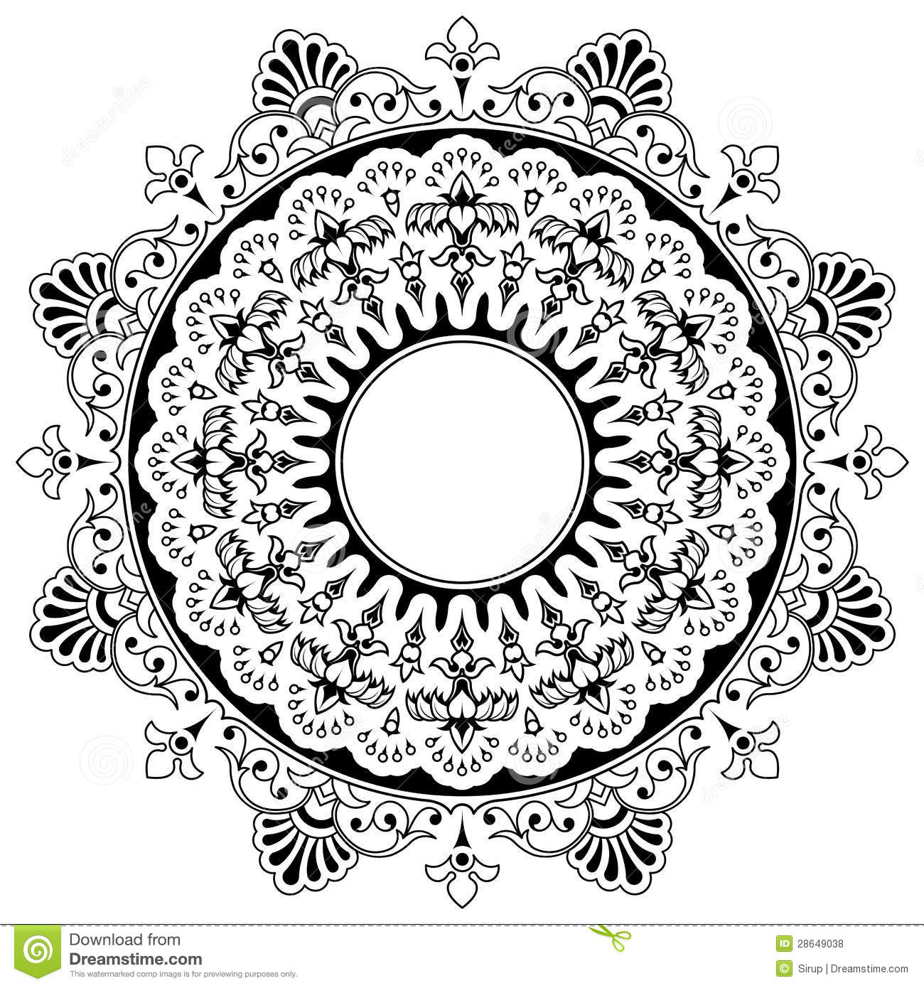Round Floral Calligraphic Border Royalty Free Stock Photos ...
