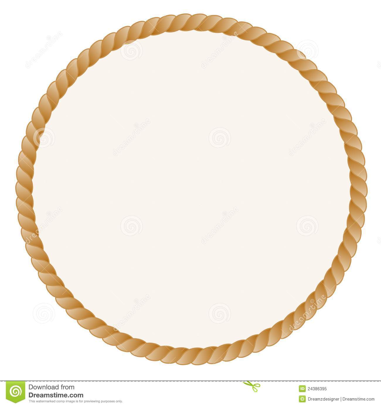 Round Frame with Rope Border