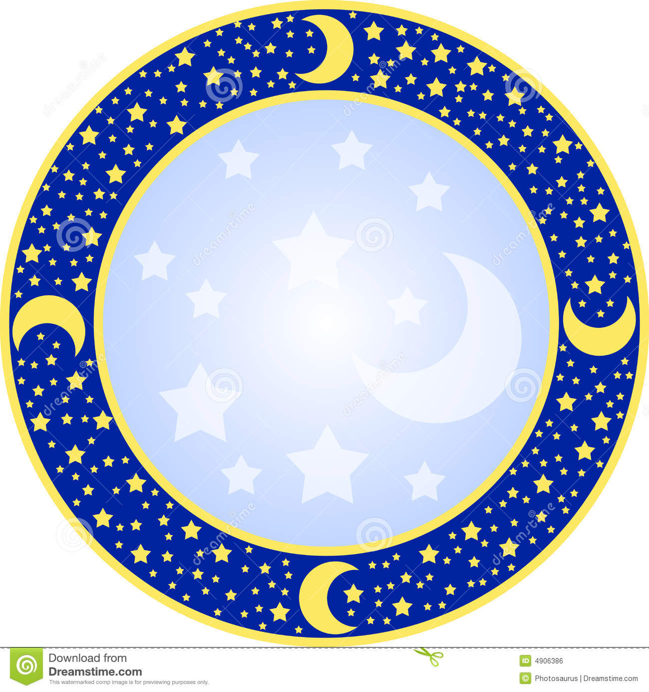 Round Frame With Stars Royalty Free Stock Image Image