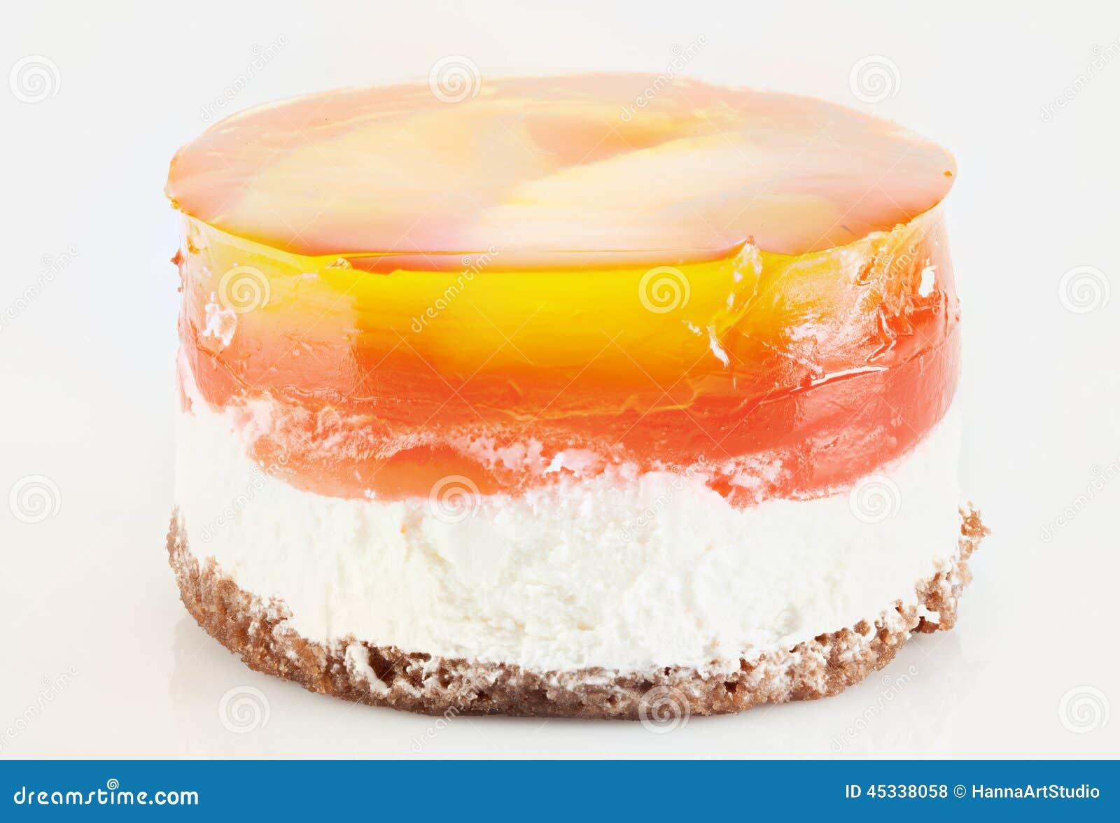Cartoon Jelly Cake Recipe: Orange Jelly 1 Royalty-Free Stock Photography