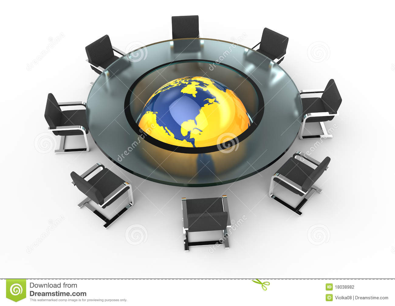 Round Glass Conference Table Stock Illustration Illustration Of - Round glass conference table