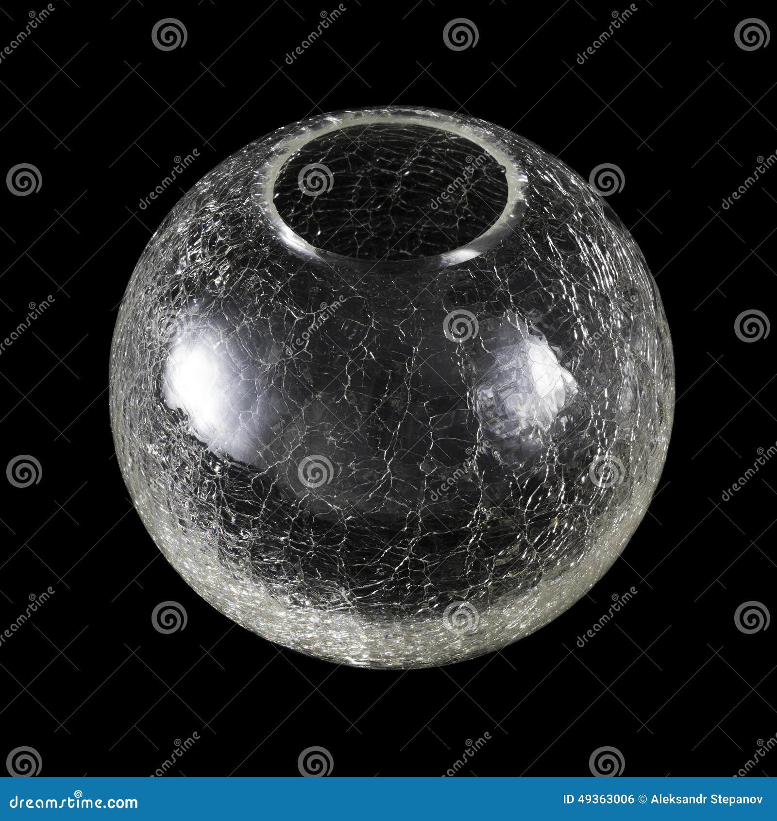 Round glass vase in small cracks stock photo image 49363006 round glass vase in small cracks reviewsmspy