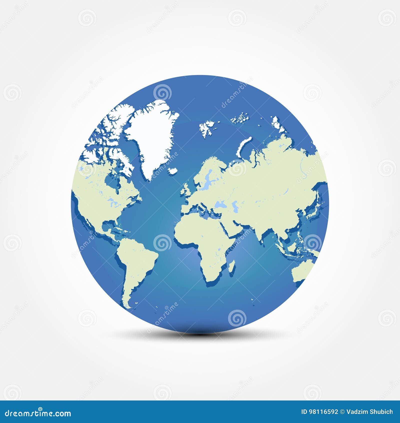Round Globe Map.Round Globe World Map Flat Illustration Eps 10 Stock Illustration