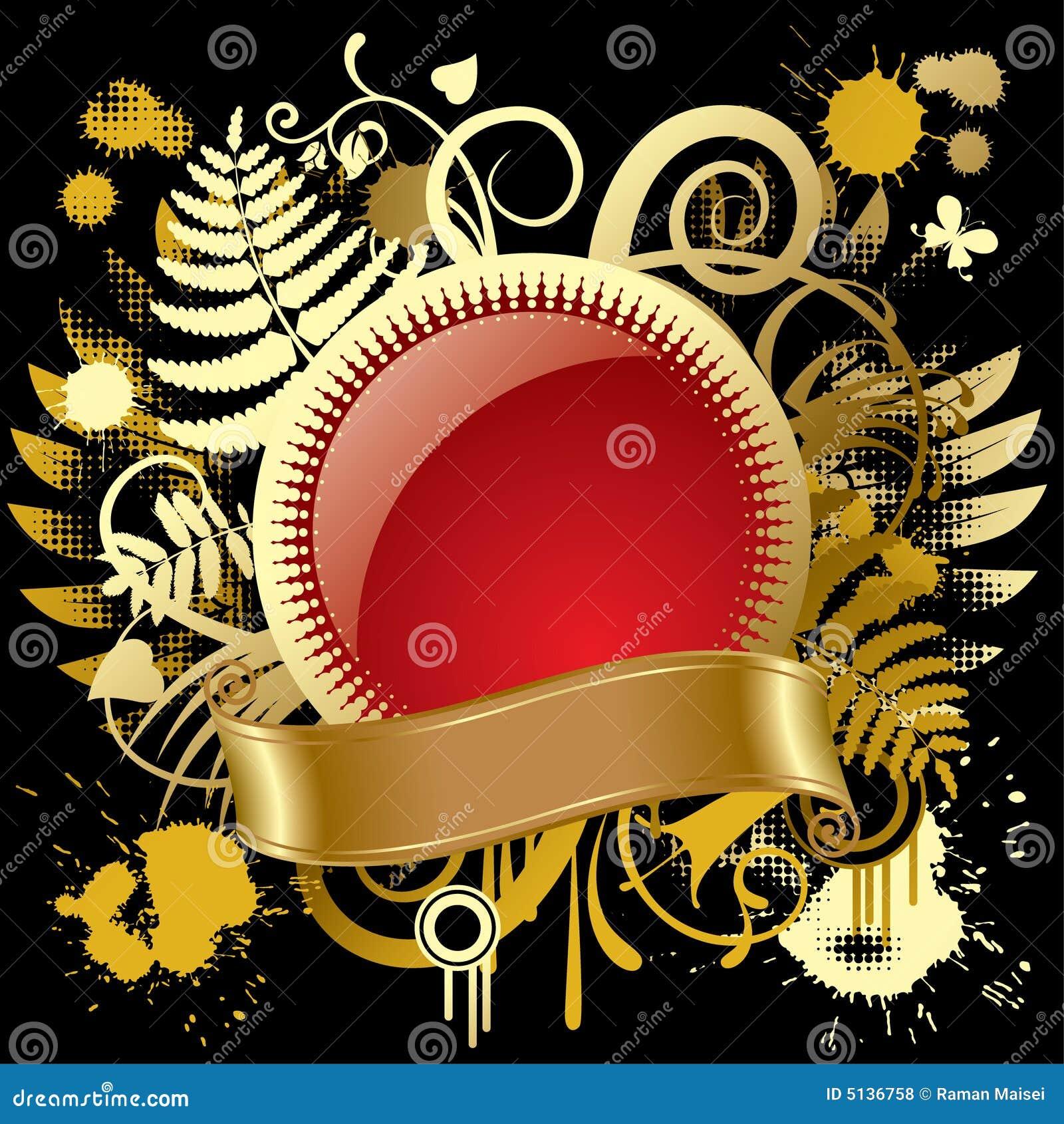 Round gold banner