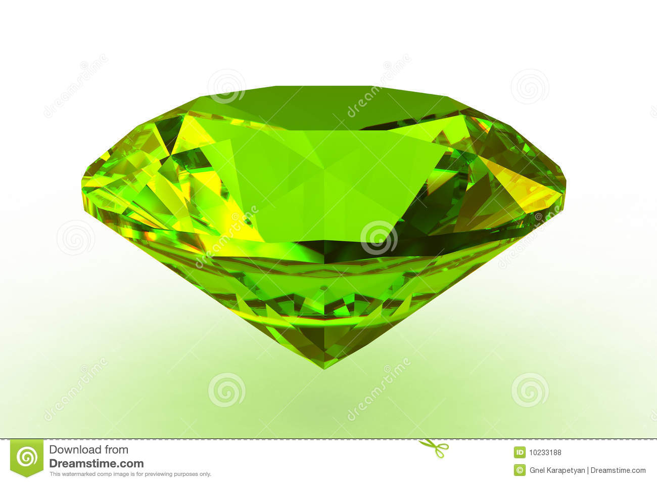 Round Green Topaz Gemstone Royalty Free Stock Photos - Image: 10233188
