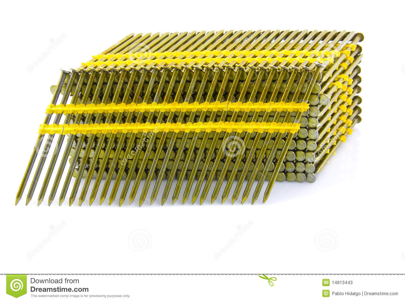 Round Head Plastic Collated Framing Nails Stock Image - Image of ...