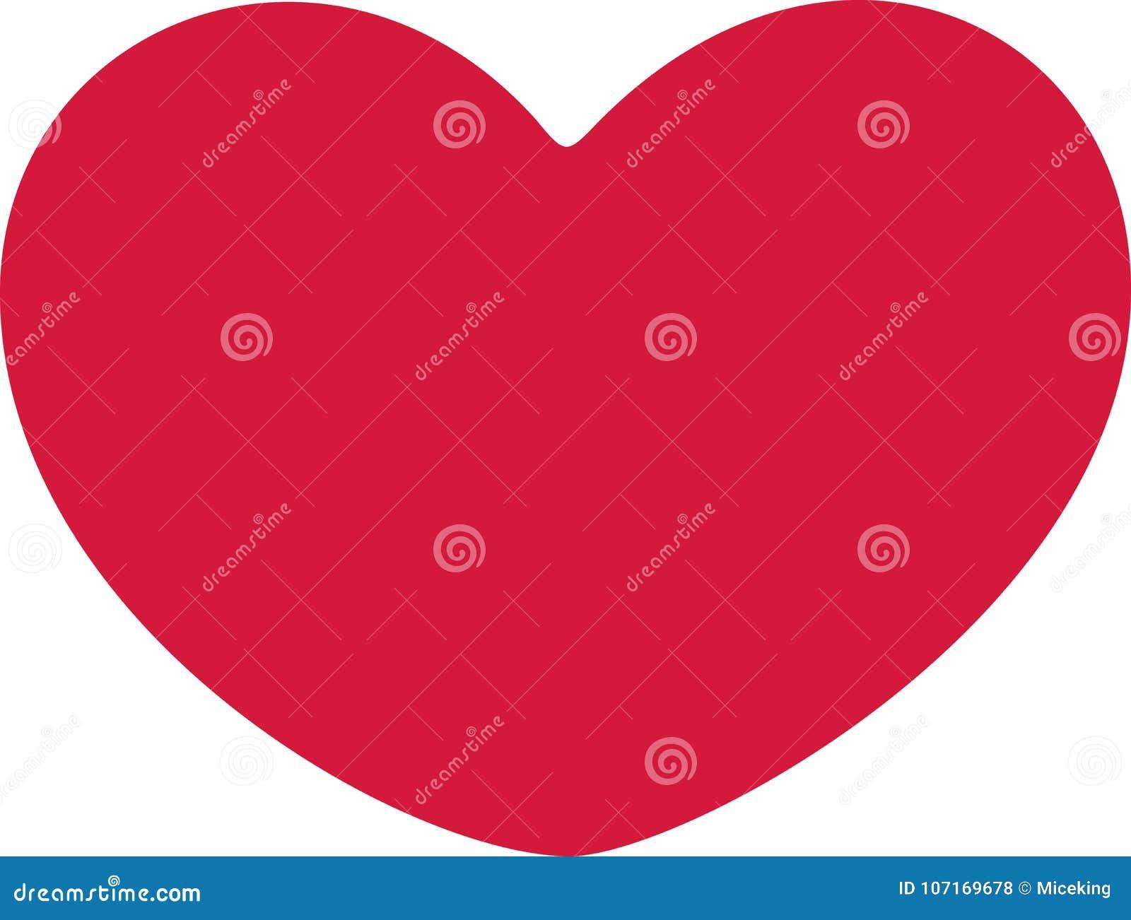 Round heart vector