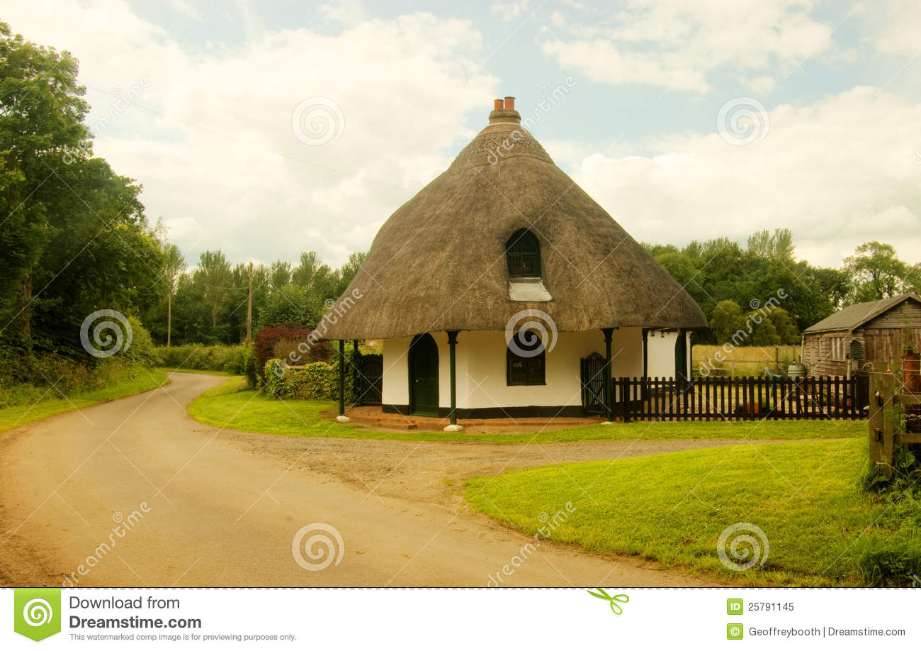 The round house langton by spilsby royalty free stock for Round house plans free
