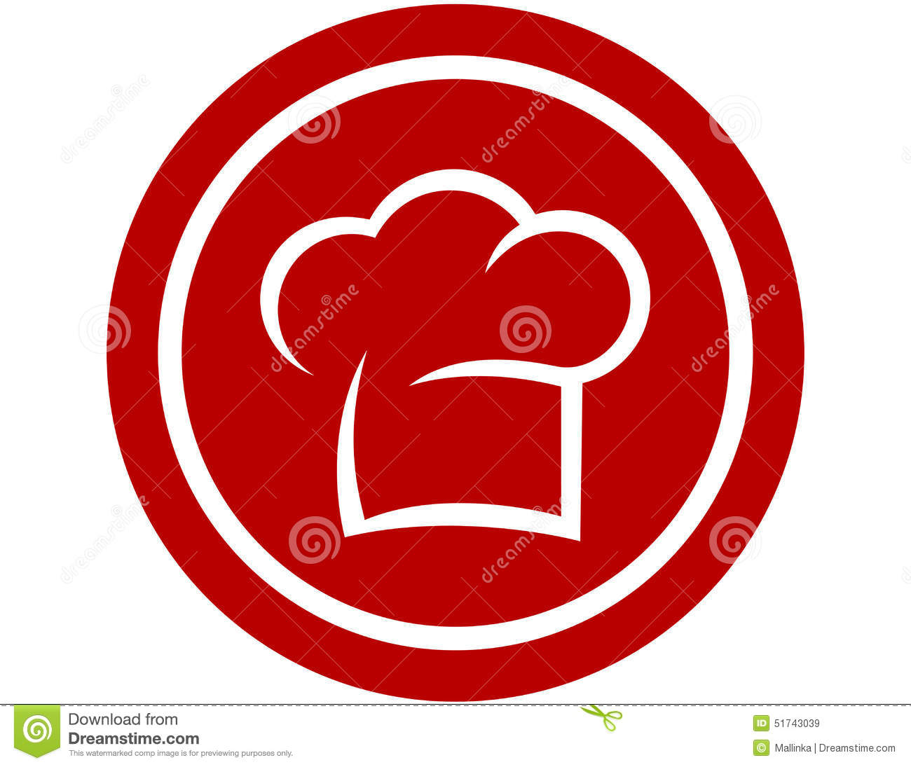 round icon with chef hat stock vector image 51743039