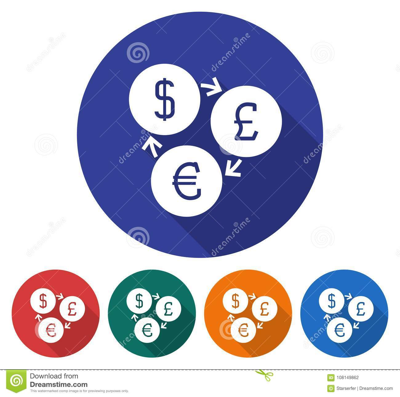 Round icon of currency exchange stock vector illustration of round icon of currency exchange biocorpaavc Images