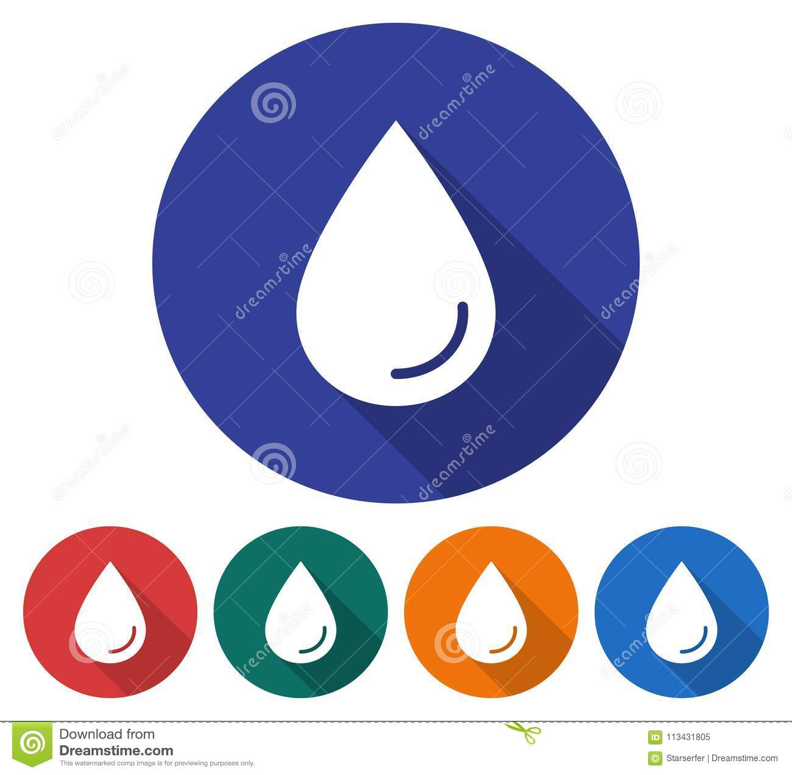 Round ikona wodna kropla