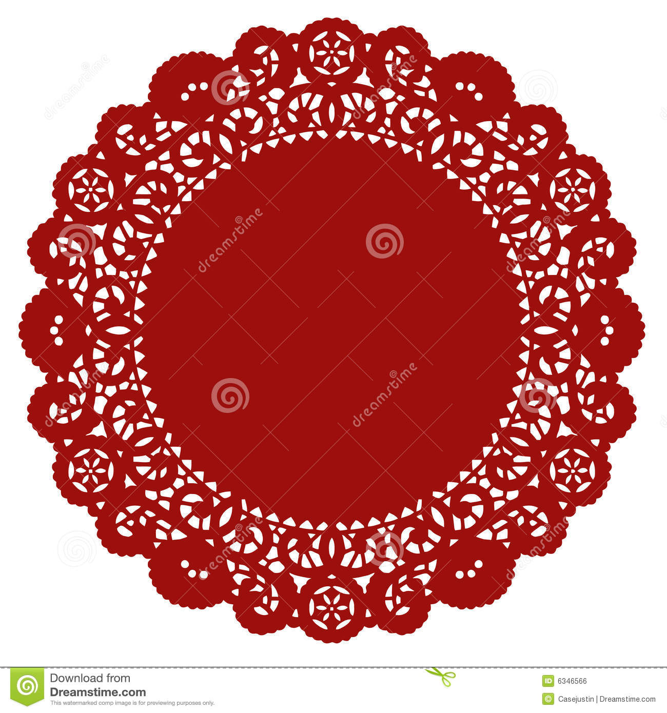 Round Lace Doily Crimson Royalty Free Stock Image