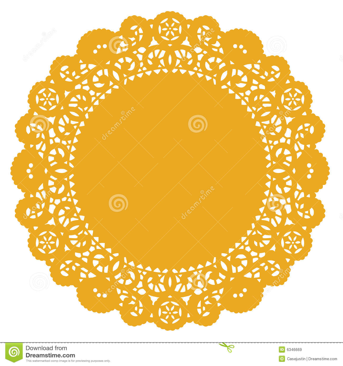 Round Lace Doily Gold Stock Vector Image Of Eps8 Needlework 6346669