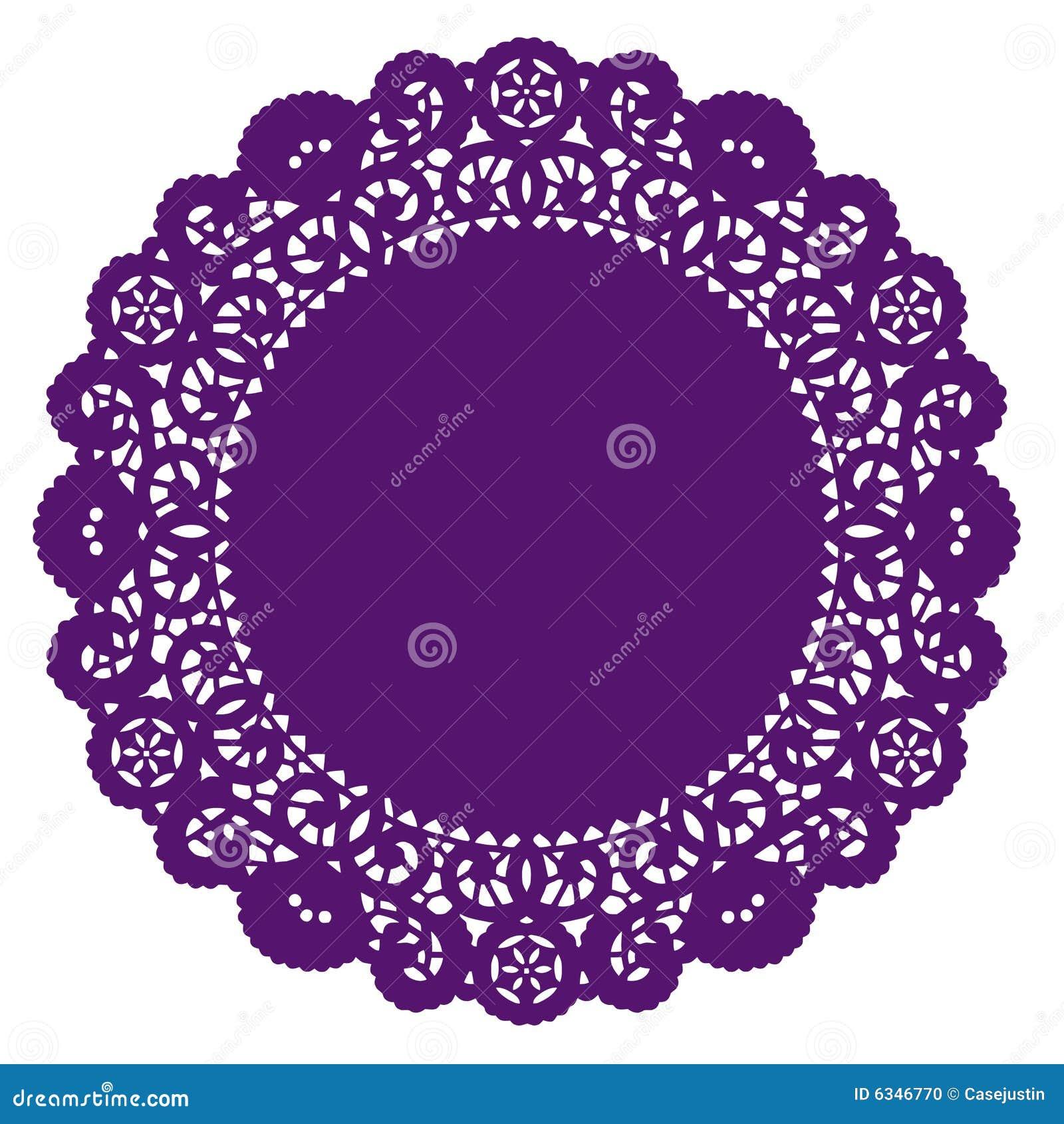 Round Lace Doily Purple Stock Photo Image 6346770