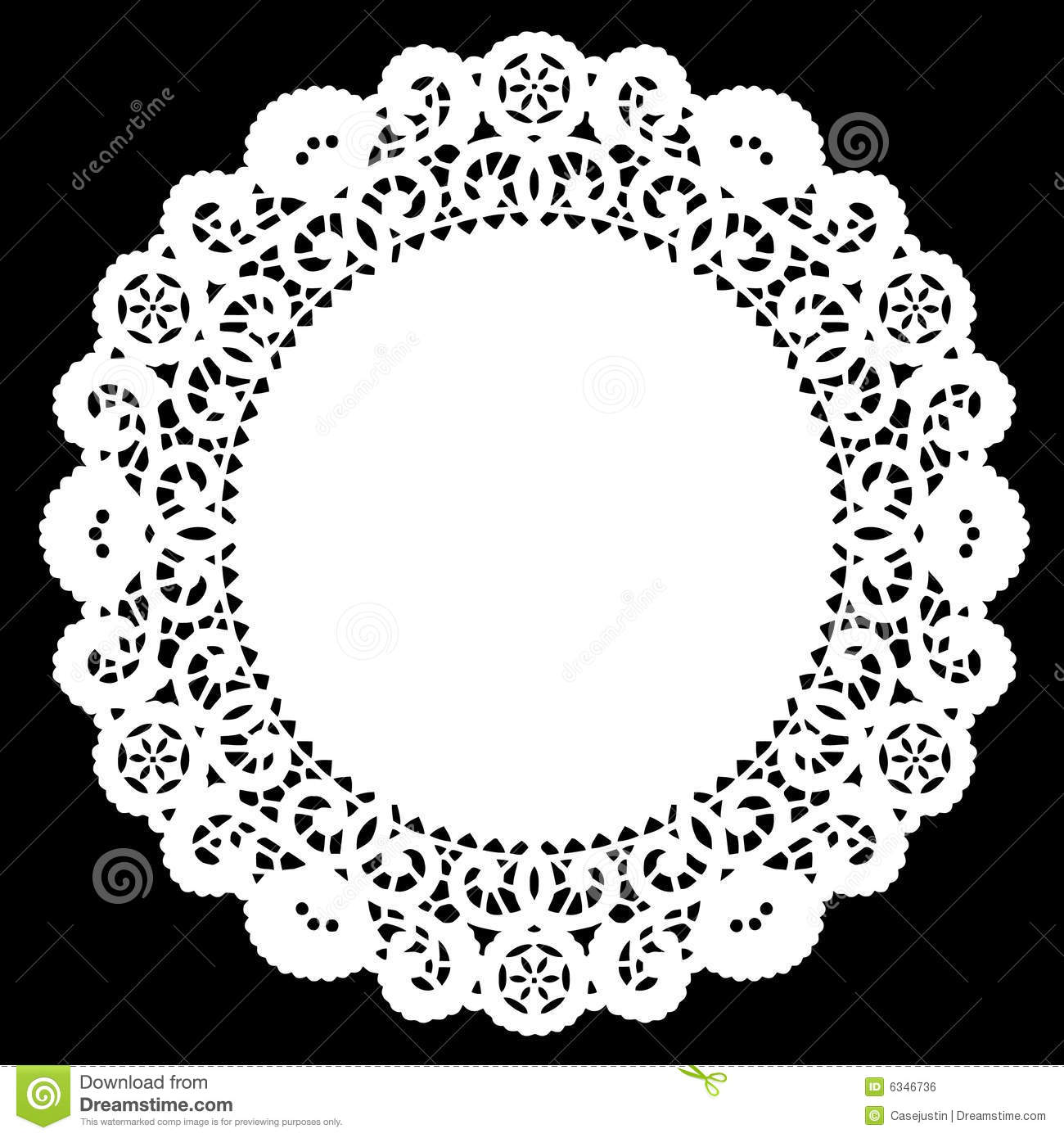Round Lace Doily White Stock Vector Illustration Of Cake