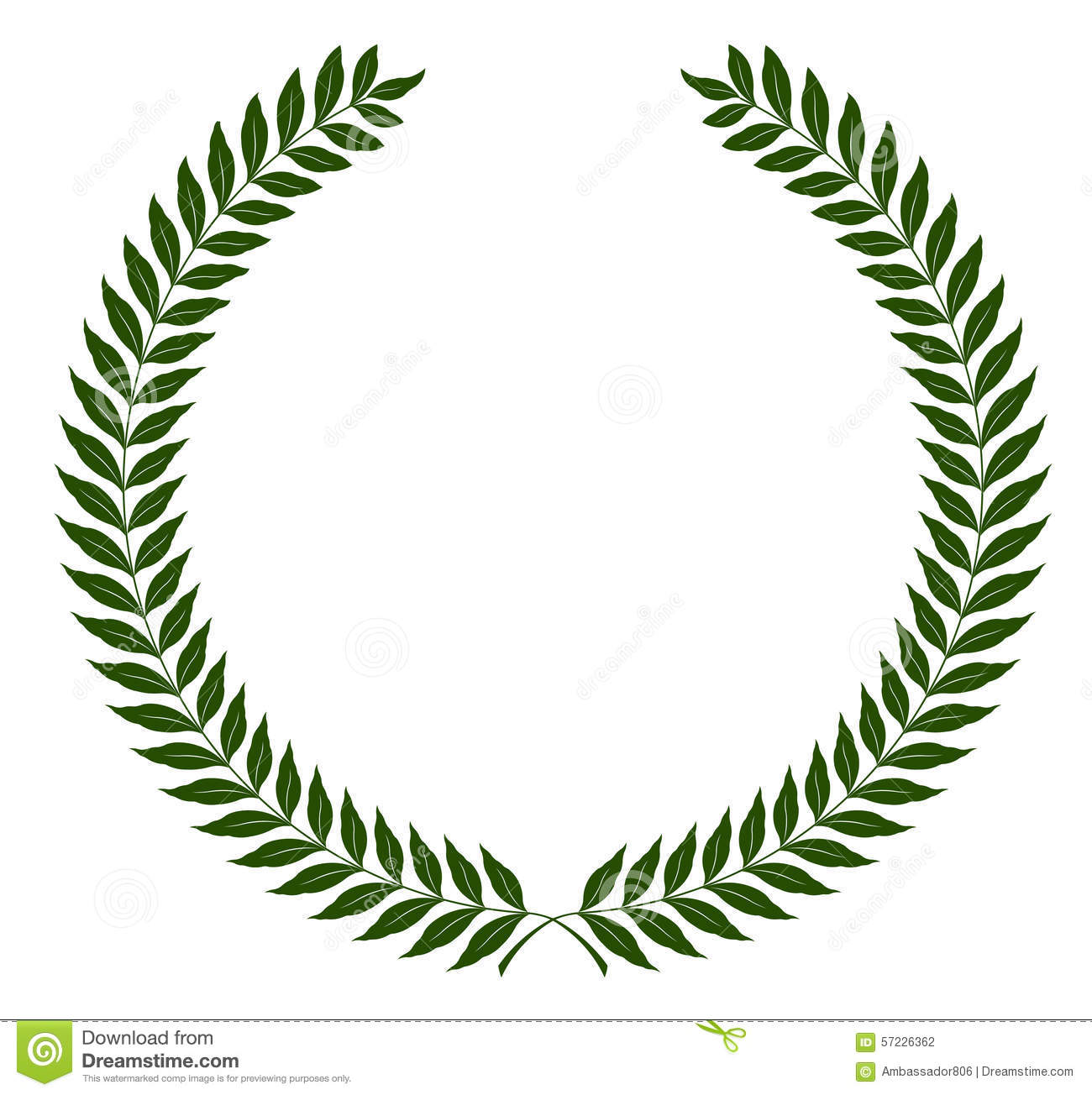Wreath Green Olive Wreath Green Clip Art At Clker Vector