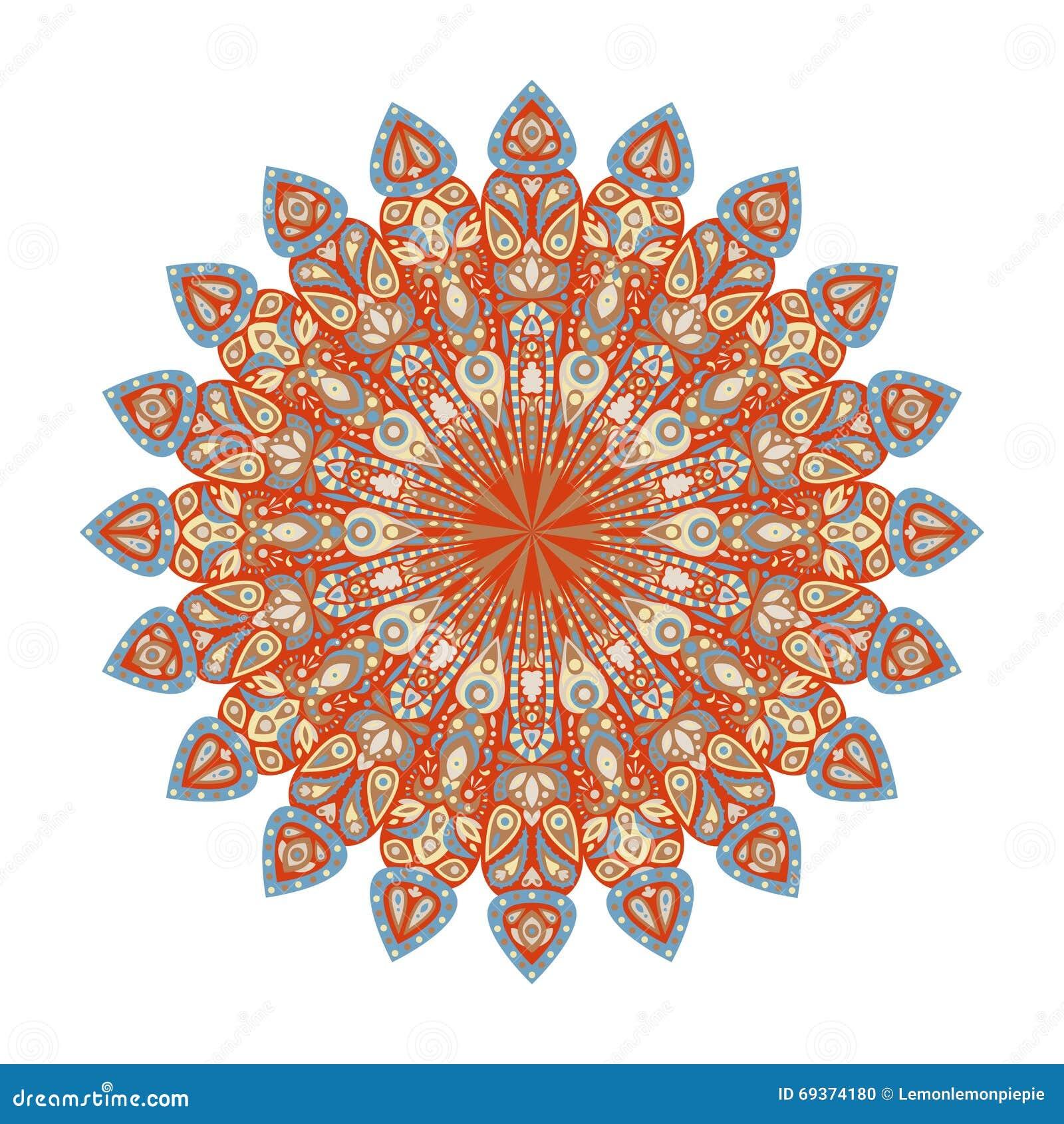 Round Mandala. Arabic, Indian, Islamic, Ottoman Ornament. Stock ...
