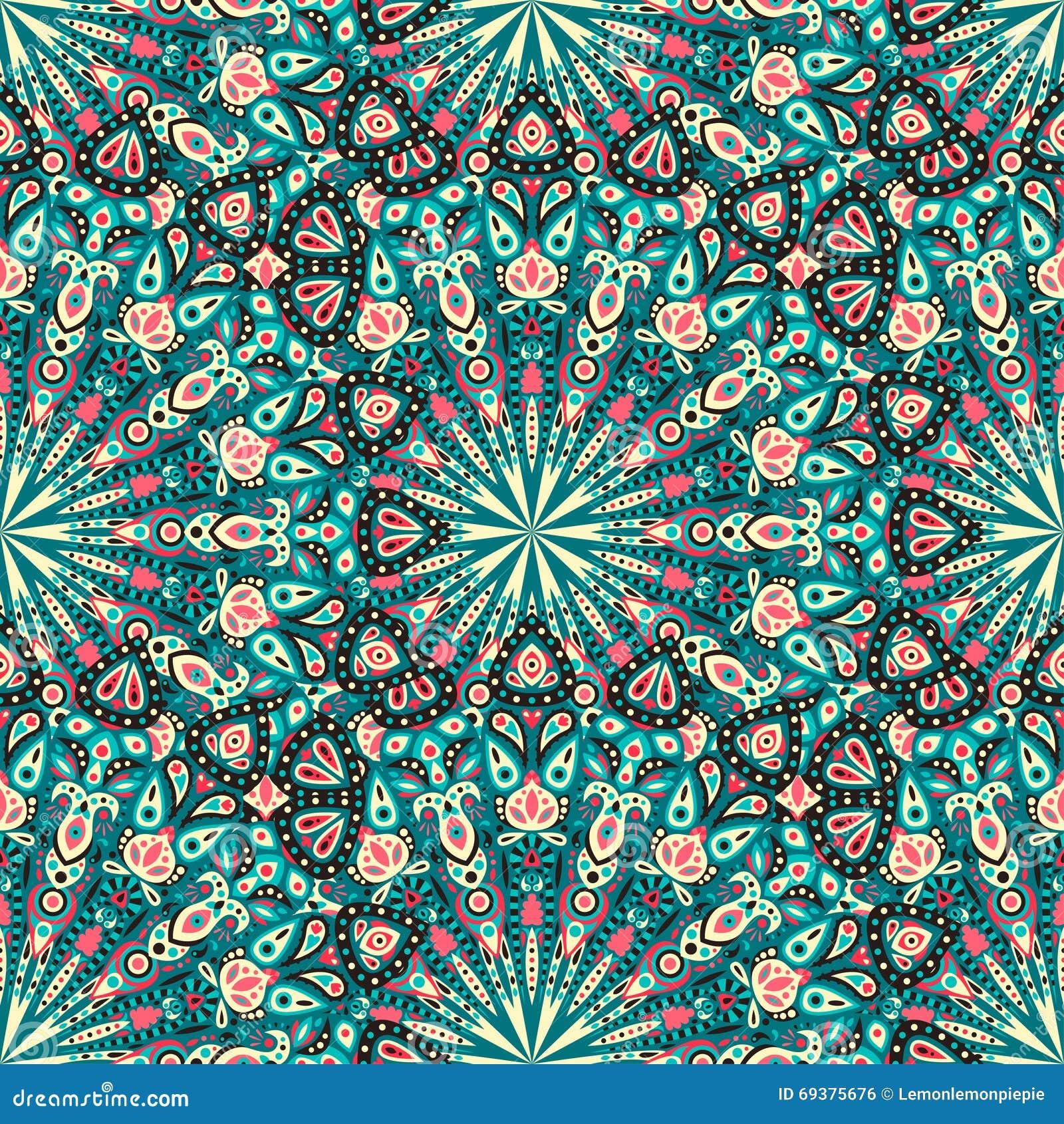 Round Mandala Seamless Pattern. Arabic, Indian, Islamic, Ottoman ...