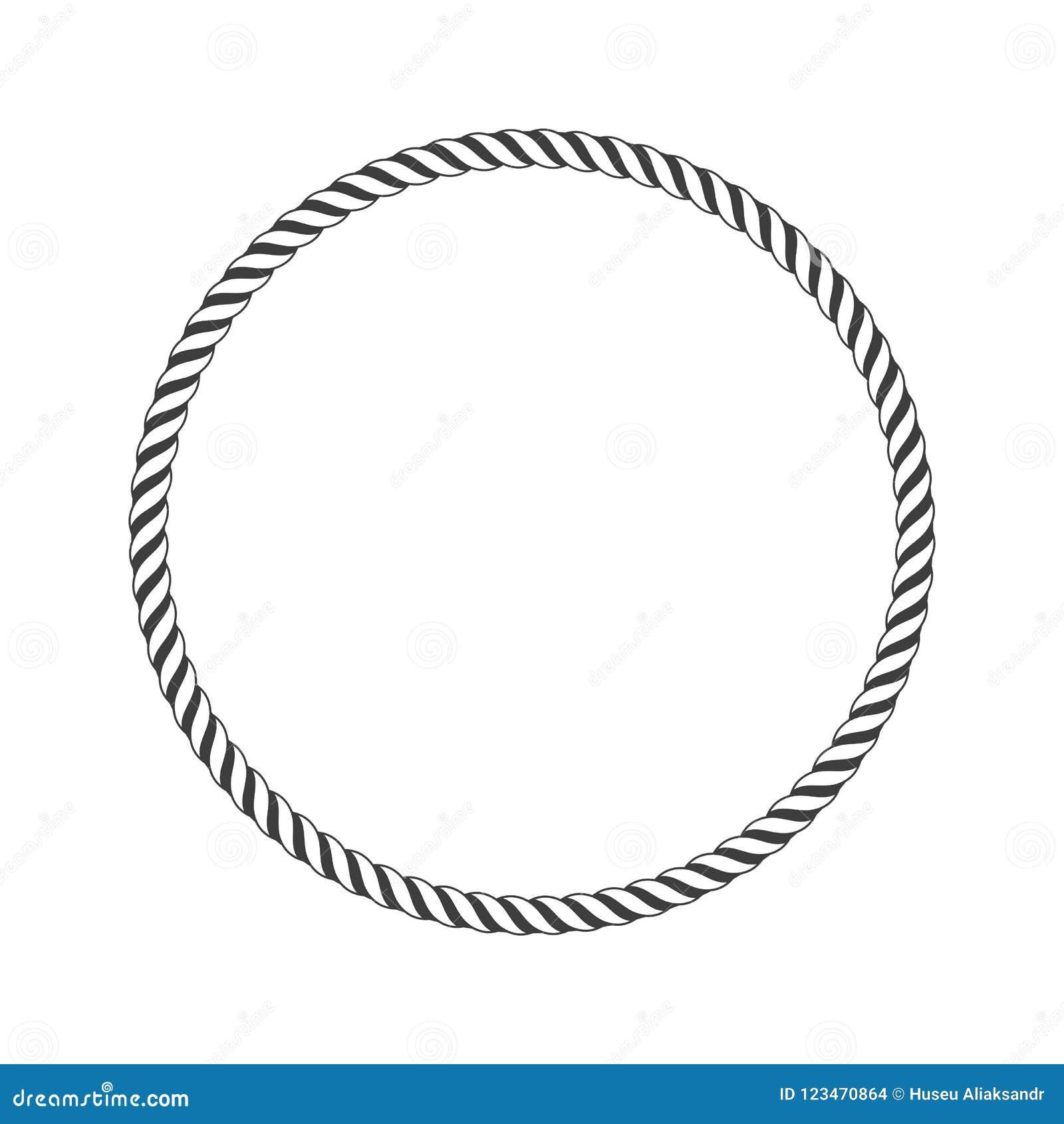 Round marine rope  stock vector  Illustration of equipment