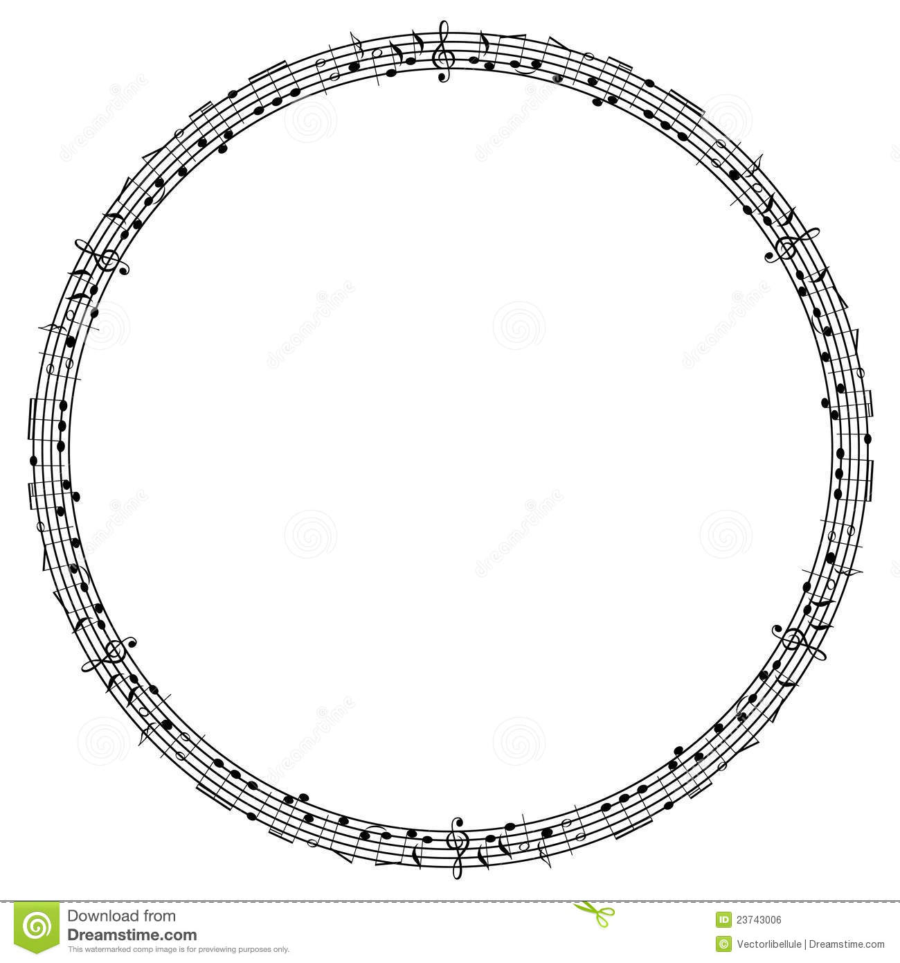 Round Notes Frame Stock Vector Illustration Of Event