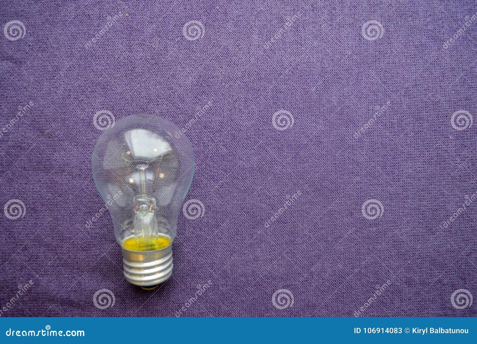 A round, ordinary, non-economical incandescent bulb