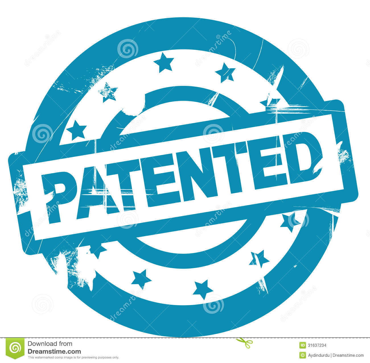 Patented Stamp Shows Trademark Patent Or Registered Royalty Free ...