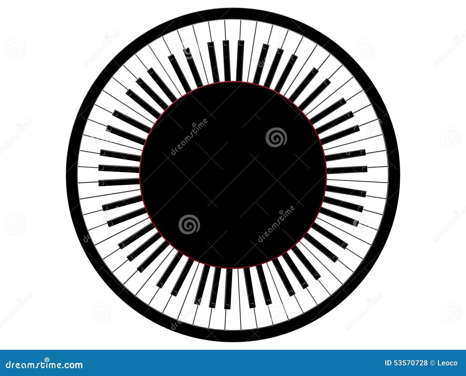 Round pianino