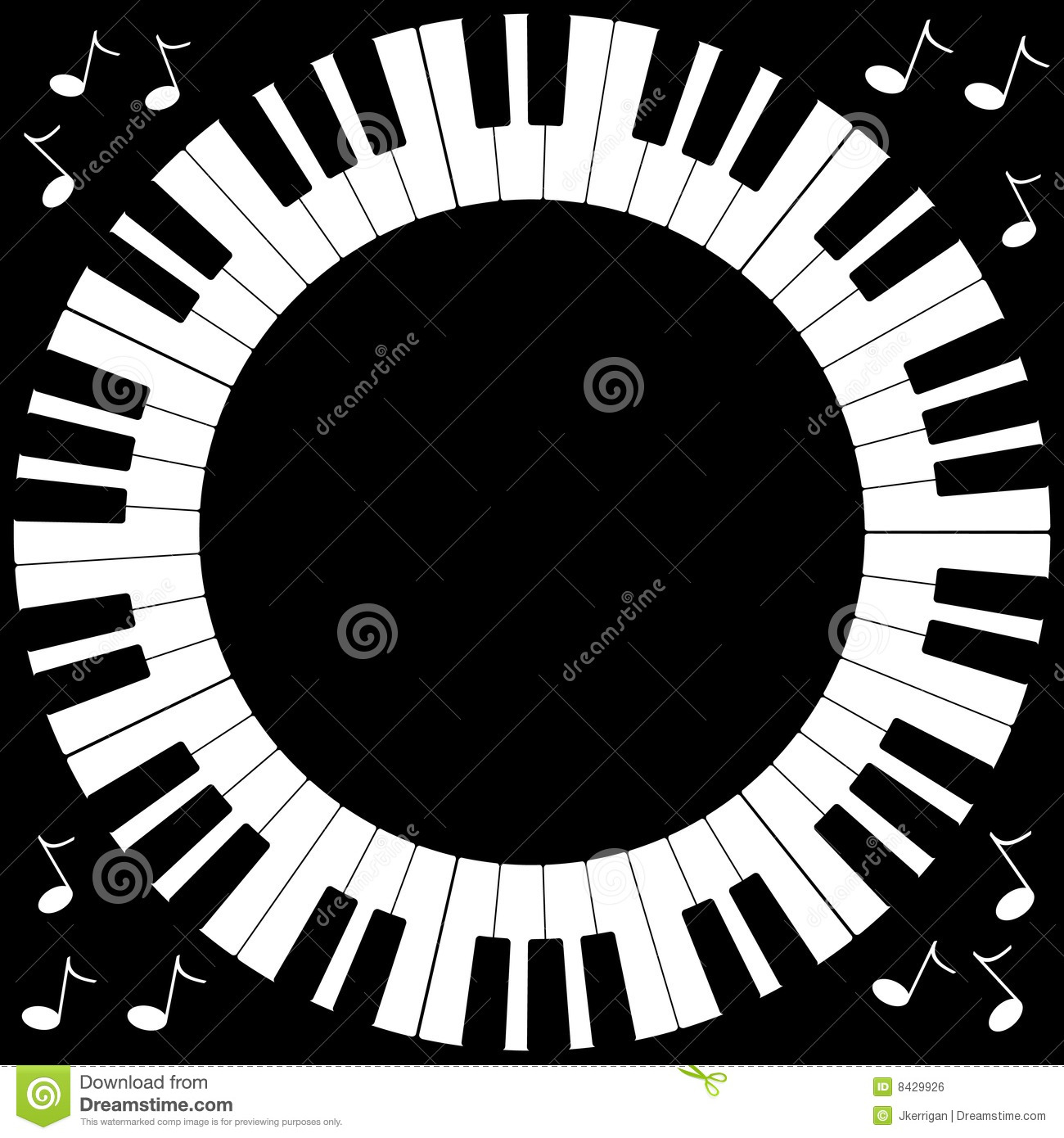 round piano keyboard frame stock vector image of musician 8429926. Black Bedroom Furniture Sets. Home Design Ideas