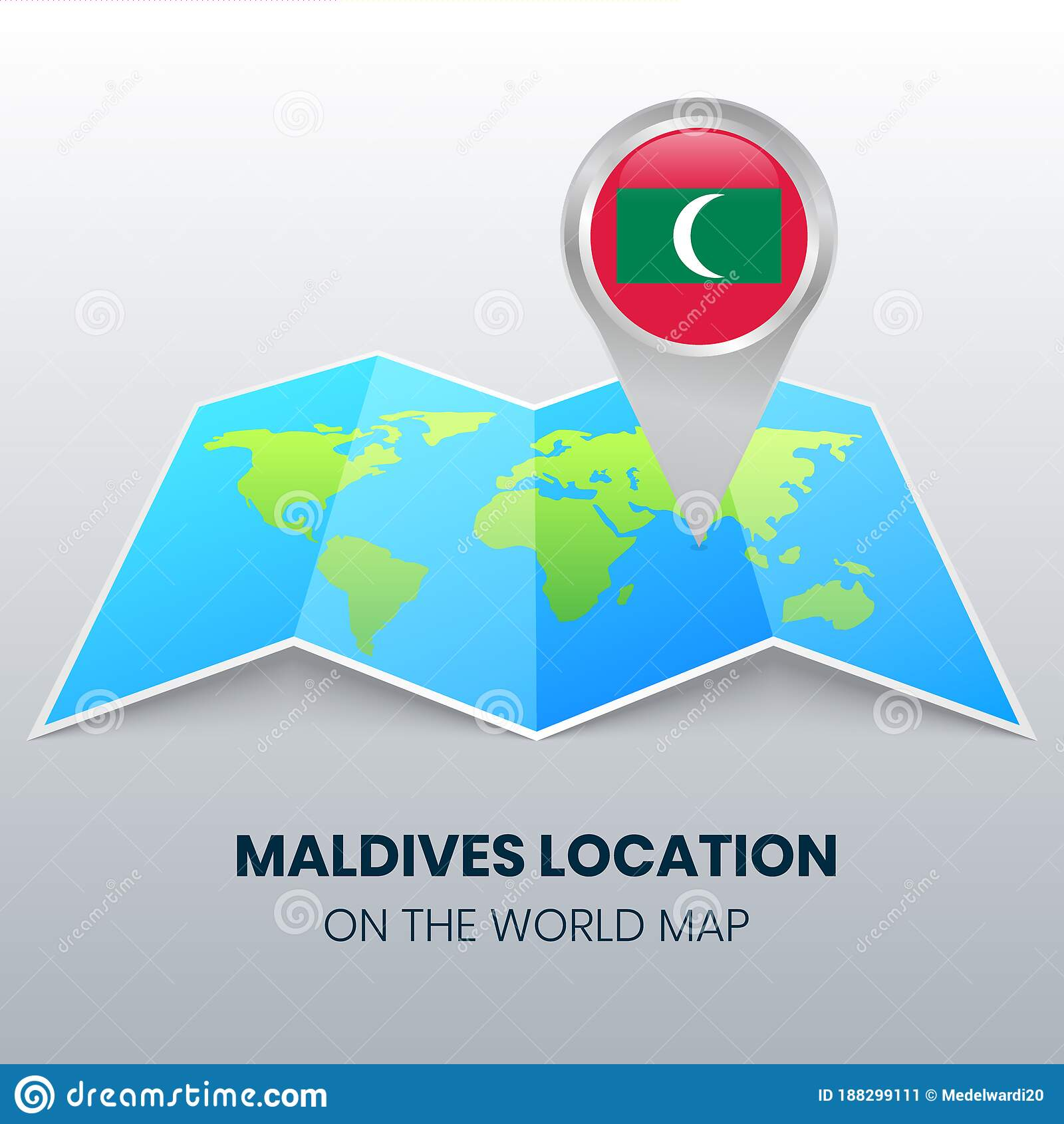 Image of: Location Icon Of Maldives On The World Map Round Pin Icon Of Maldives Stock Vector Illustration Of Graphic Earth 188299111