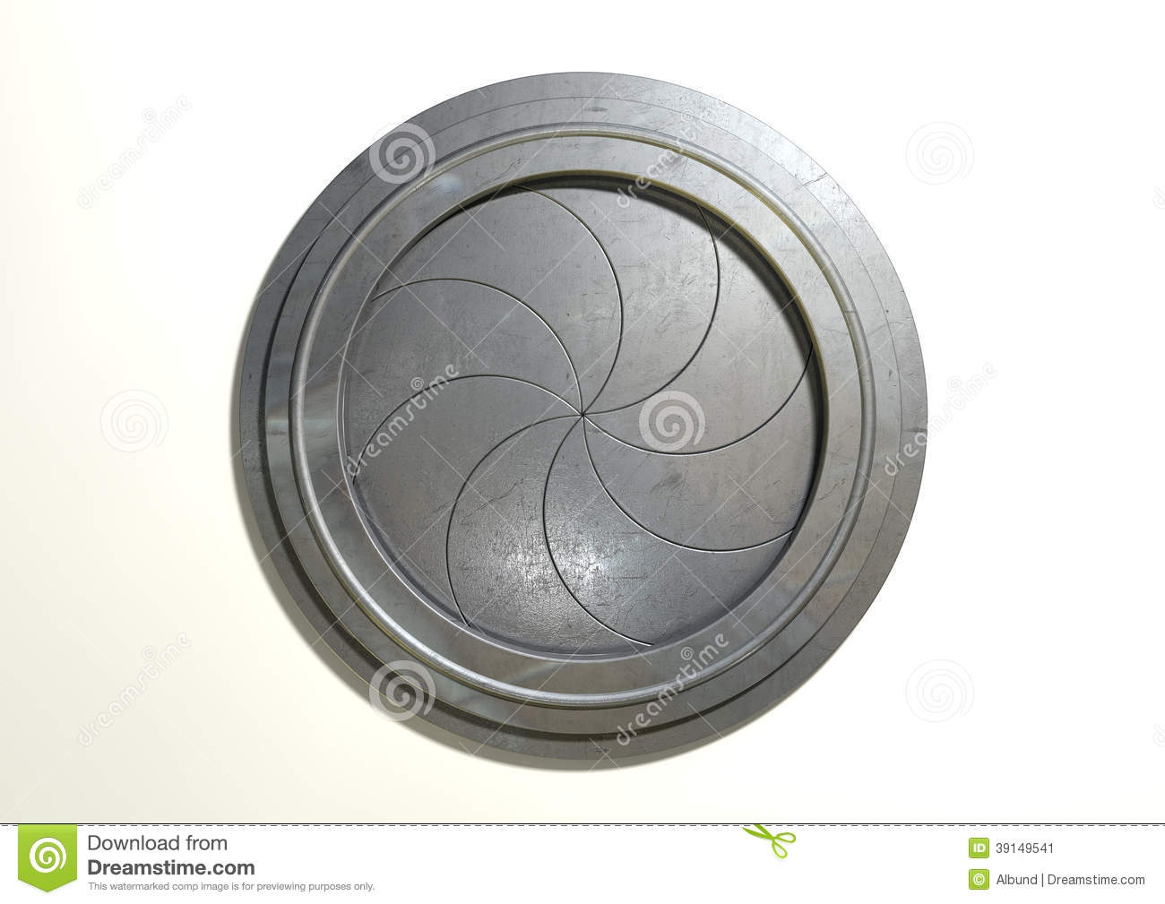 Round Portal Futuristic Door Stock Photo Image 39149541