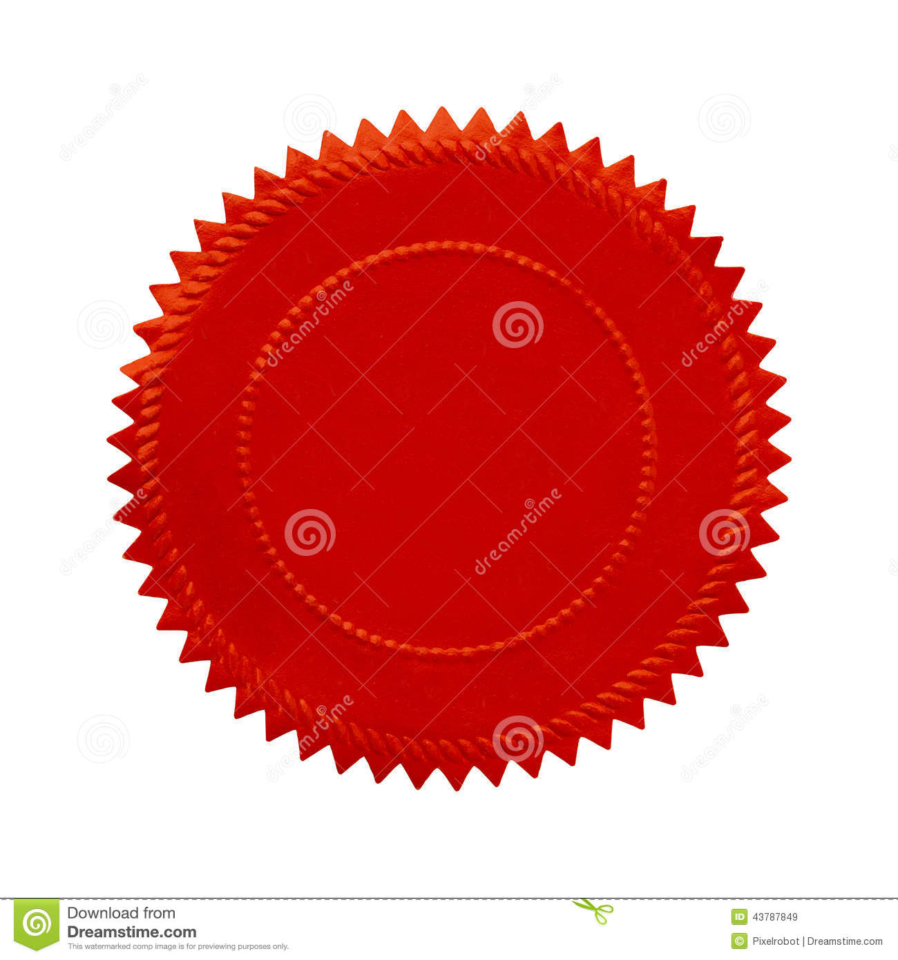Round Red Seal Stock Image Image Of Number Sports Ideas