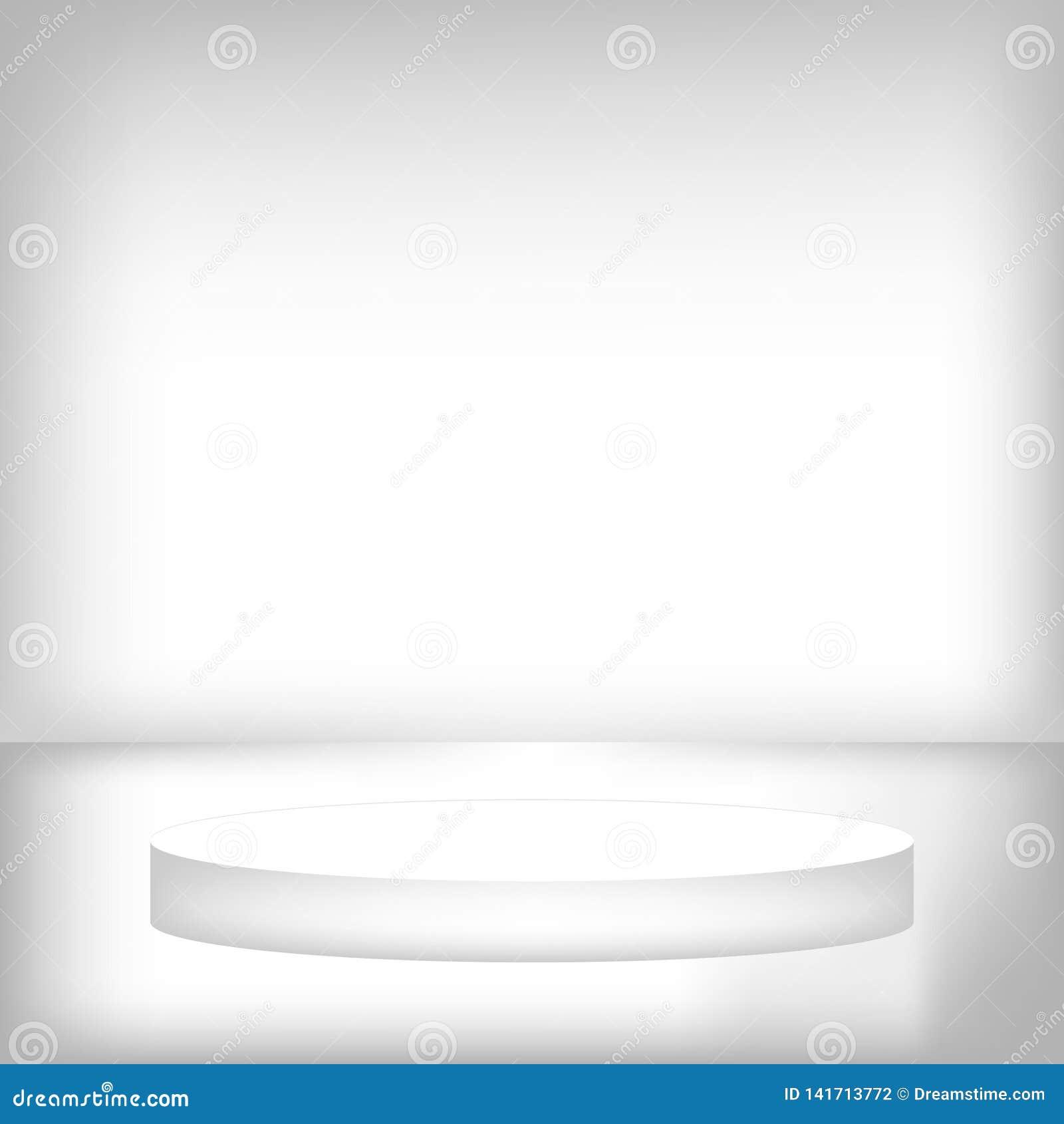 Round sceny podium