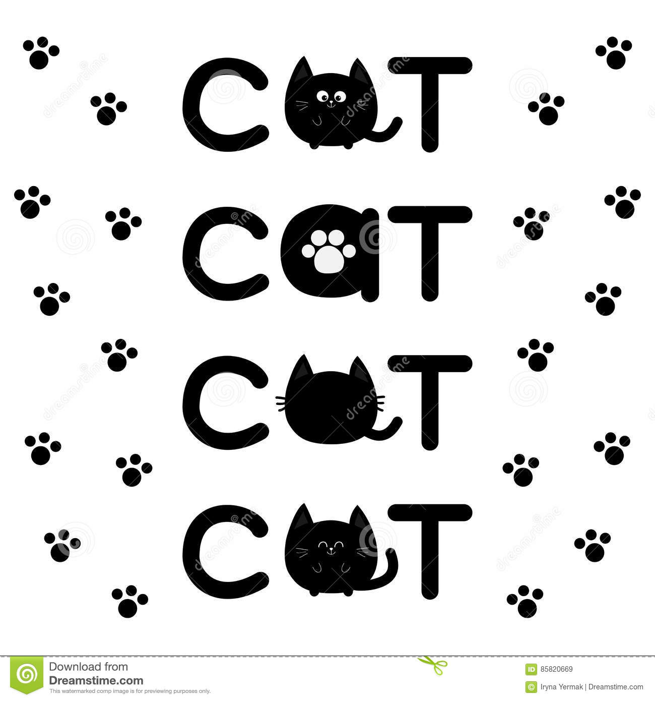 Round shape black cat text icon set lettering paw print cute round shape black cat text icon set lettering paw print cute cartoon character kawaii animal big tail whisker eyes happy emo biocorpaavc Image collections