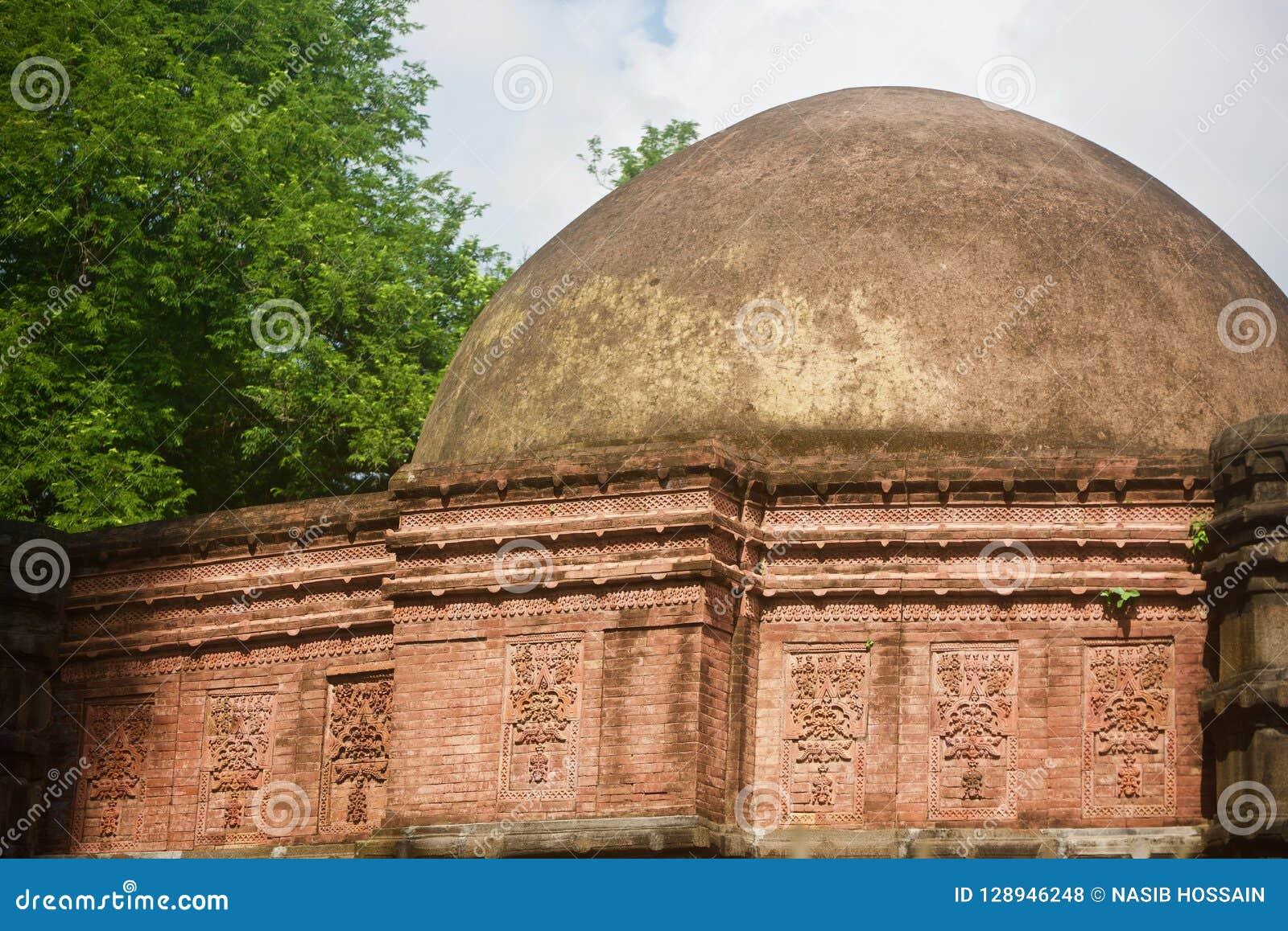 Parts of a large minaret of an ancient mosque unique photo