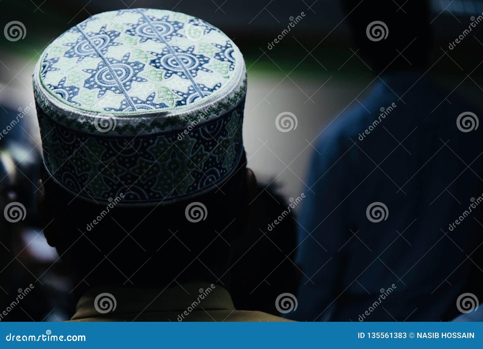 A round shape muslim cap unique photo