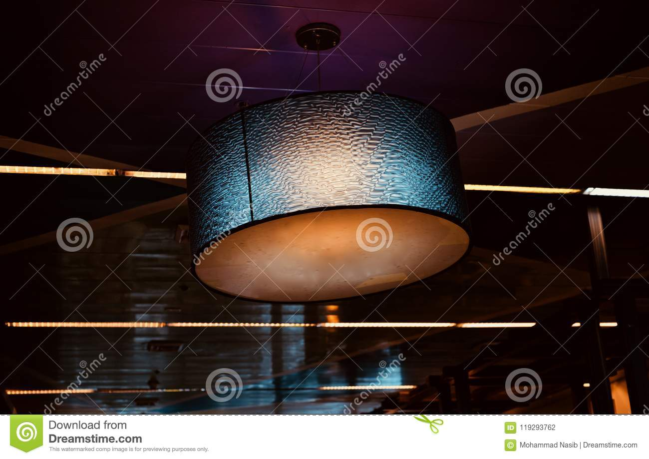 Download Beautiful Interior Decoration Lights Unique Photograph Stock Photo - Image of style, round: 119293762