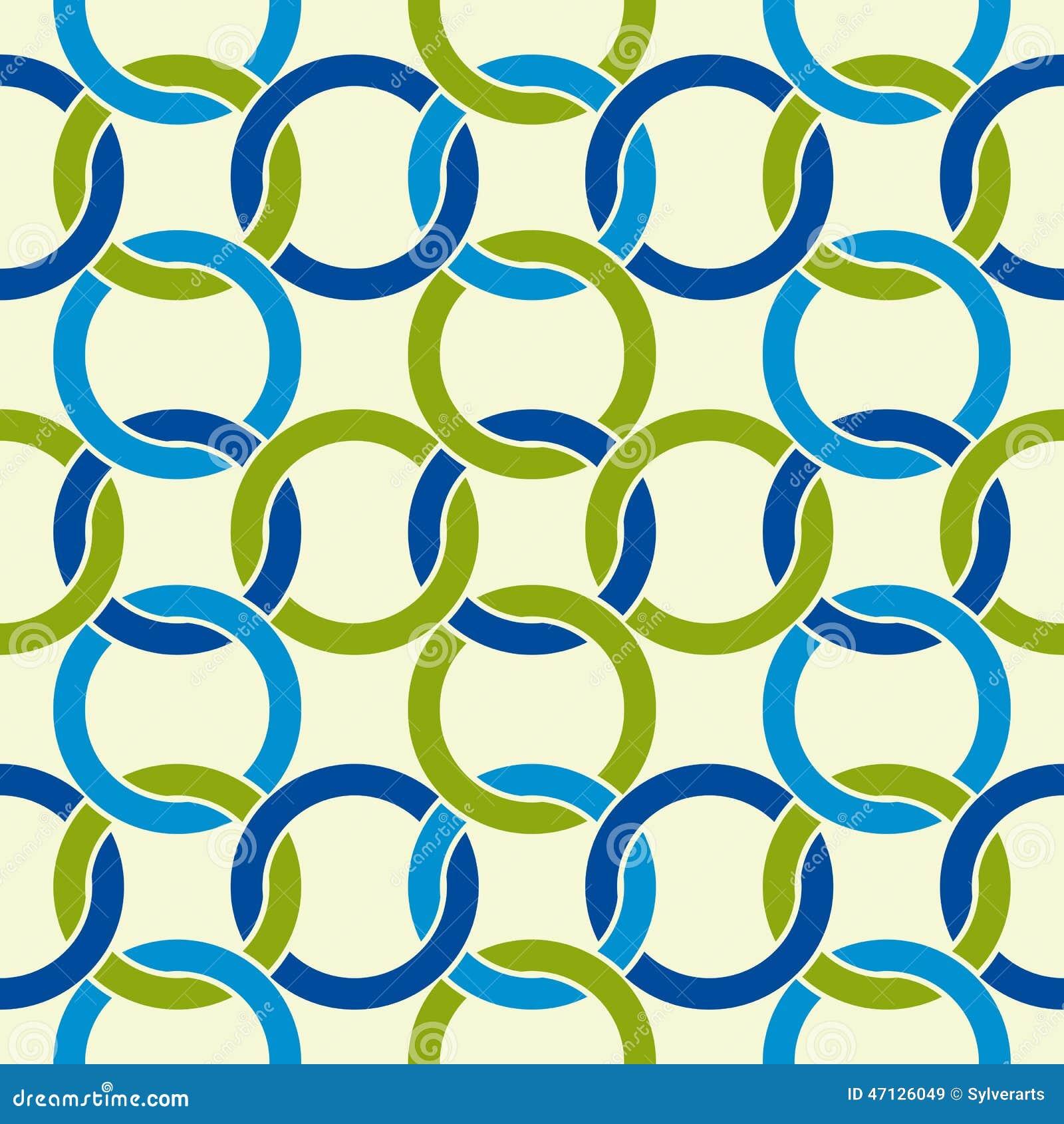 Round shapes lattice seamless pattern.