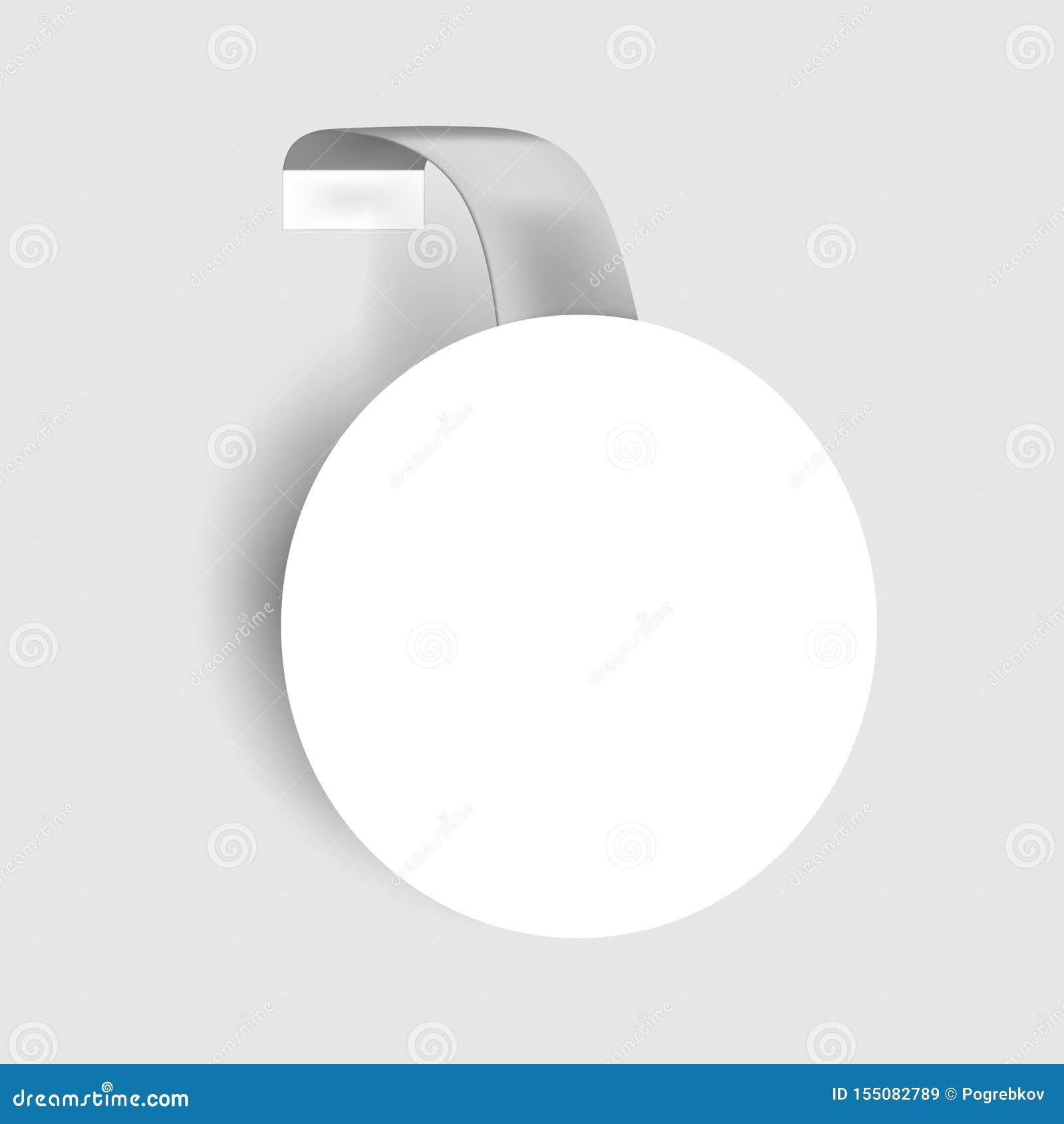 Logo Mockup Circular White Sign